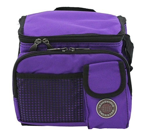 "Transworld Durable Deluxe Insulated Lunch Cooler Bag (Many Colors and Size Available) (9"" x 7"" x 8"", Purple)"