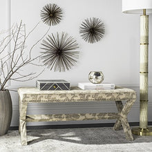 Safavieh Mercer Collection Melanie Bench, Taupe and Beige