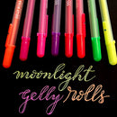 Image of Sakura Gelly Roll Moonlight Pen Set, 1 mm Bold Tip, Assorted Colors, Pack of 10