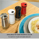 Image of CHEFVANTAGE Salt and Pepper Shakers Set with Adjustable Holes - Black & White
