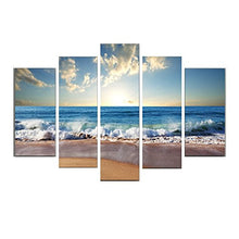 Yeyo Art Paintings Morning Sea Stretched and Framed Canvas Artwork Paintings on Wall Art Ready to Hang for Living Room Bedroom Home Decorations