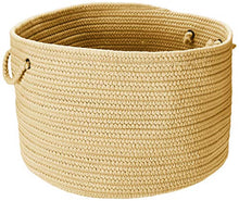 Colonial Mills BR34 18 by 18 by 12-Inch Boca Raton Solid Storage Basket, Pale Banana