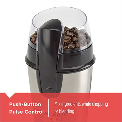Black+Decker Bean Coffee Grinder, Other Size, White,Stainless