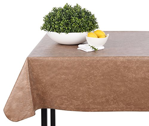 Yourtablecloth Heavy Duty Vinyl Rectangle or Square Tablecloth - 6 Gauge Heavy Duty Tablecloth - Flannel Backed - Wipeable Tablecloth with Vivid Colors & Many Sizes 60 x 120 Hunter Green