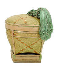 Creative Co-op DA4557 Palawan Aboriginal Hand Woven Basket with Rayon Tassel, Small