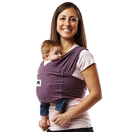 Baby K'tan Original Baby Wrap Carrier, Infant and Child Sling - Simple Wrap Holder for Babywearing - No Rings or Buckles - Carry Newborn up to 35 lbs, Eggplant, Women 22-24 (X-Large), Men 47-52
