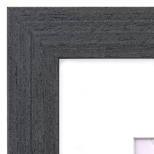 12x16 Black Picture Frame Wood - Matted for 8x12, Frames by EcoHome