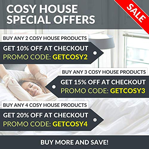 Cosy House Collection Pillowcases Standard Size - White Luxury Pillow Case Set of 2 - Fits Queen Size Pillows - Premium Super Soft Hotel Quality - Cool & Wrinkle Free - Hypoallergenic
