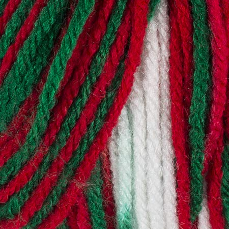 RED HEART Super Saver Yarn, Mistletoe Print