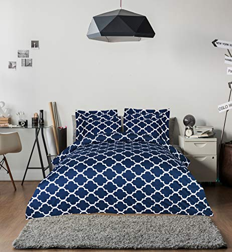 Utopia Bedding 3 Piece Printed Duvet Cover Set  Soft Brushed Microfiber Fabric  Wrinkle, Shrinkage A
