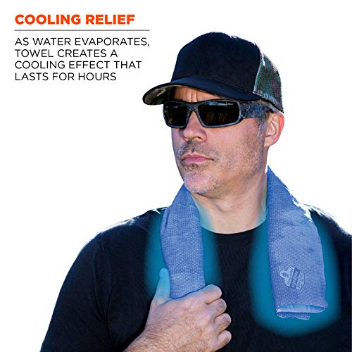 Ergodyne Chill-Its 6602 Evaporative Cooling Towel, Blue