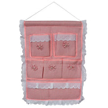 [Plaid & Allover] Pink/Wall Hanging/ Wall Baskets / Hanging Baskets/Wall Organizers (15*19)
