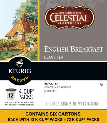 Celestial Seasonings English Breakfast Tea, Keurig Single Serve K Cup Pods, 72 Count
