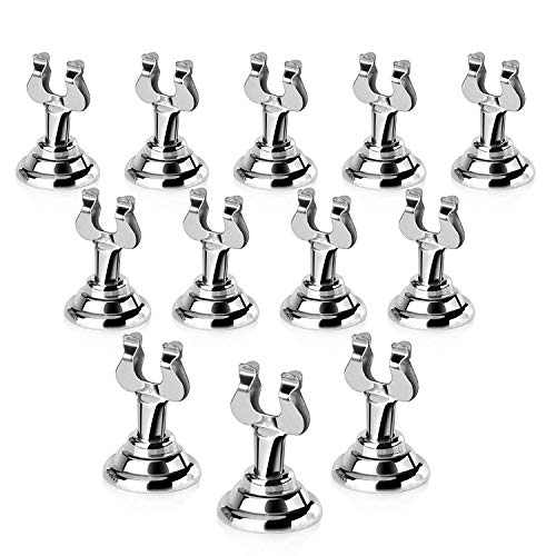 New Star Foodservice 23428 Harp Clip Style, Place Card/Table Number Holder, 1.5 Inch, Silver, Set Of