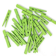 Just Artifacts 2.75-inch Craft Wood Clothespins/Peg Pins (100pc, Green Apple)