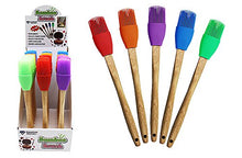 Diamond Visions 11-1839 Silicone Basting Brush with Bamboo Handle MultiPack in Assorted Colors (2 Brushes)
