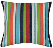 Sunbrella Carousel Confetti Indoor/Outdoor Striped Patio Pillow 16x16