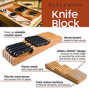Image of Bellemain 100% Pure Bamboo in Drawer Knife Block, Knife Organizer