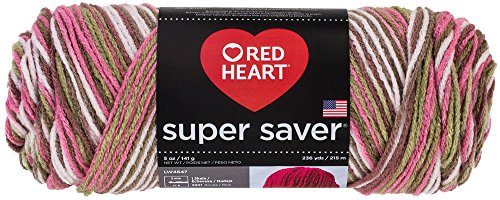 Red Heart  Super Saver Economy Yarn, Pink Camo