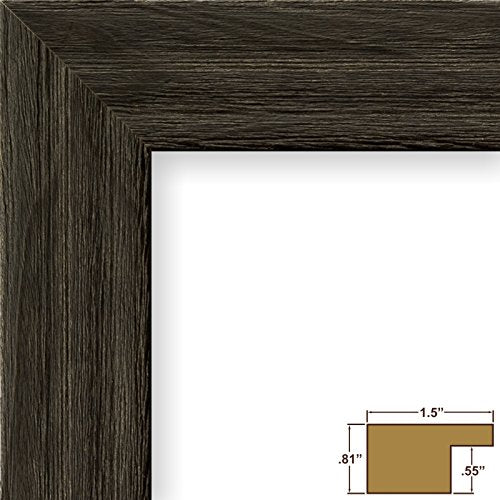 Craig Frames 1.5DRIFTWOODBK 16 by 20-Inch Picture Frame, Wood Grain Finish, 1.5-Inch Wide, Weathered Black
