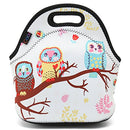 Image of ICOLOR Cute Three Owls Boys Girls Insulated Neoprene Lunch Bag Tote Handbag lunchbox Food Container Gourmet Tote Cooler warm Pouch For School work Office