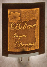 Believe CURVED Porcelain Lithophane Nightlight