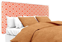 MJL Furniture Designs Alice Padded Bedroom Headboard Contemporary Styled Bedroom Dcor, Nicole Series Headboard, Tabby Orange Finish, Queen Sized, USA Made