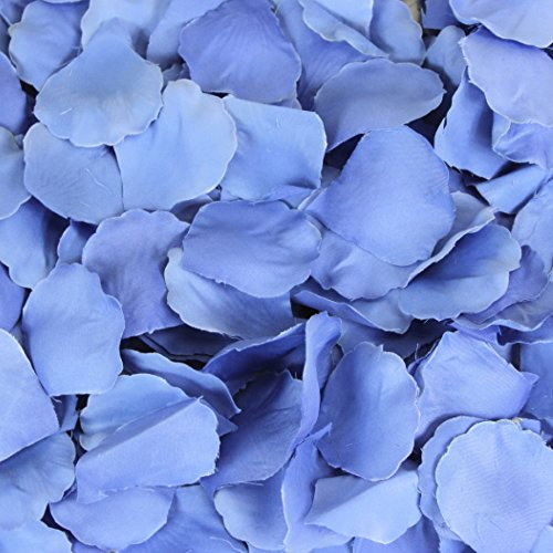 Koyal Wholesale 200-Pack Silk Rose Petals, Royal Blue