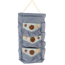 [Plaid & Lace] Blue/Wall Hanging/Wall Organizers /Baskets /Hanging Baskets/Baskets (1120)
