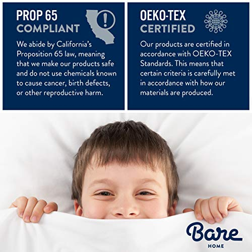 Bare Home Premium 1800 Ultra Soft Kids Microfiber Pillowcase Set   Double Brushed   Hypoallergenic