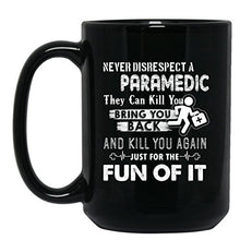 Paramedic Coffee Mugs - Paramedic Tea Cup, Cool Design Mug 15oz Black Gift For Friend, Family (Coffee Mug Black 15oz)