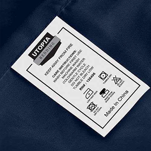 Utopia Bedding Bed Sheet Set   3 Piece Twin Bedding   Soft Brushed Microfiber Fabric   Shrinkage & F