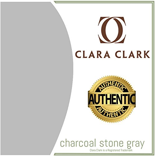 Clara Clark Premier 1800 Collection Deluxe Microfiber Three Line Bed Sheet Set, King Size, Silver Li