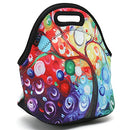 Image of ICOLOR Colorful Tree Insulated Neoprene Lunch Bag Tote Handbag lunchbox Food Container Gourmet Tote Cooler warm Pouch For School work Office