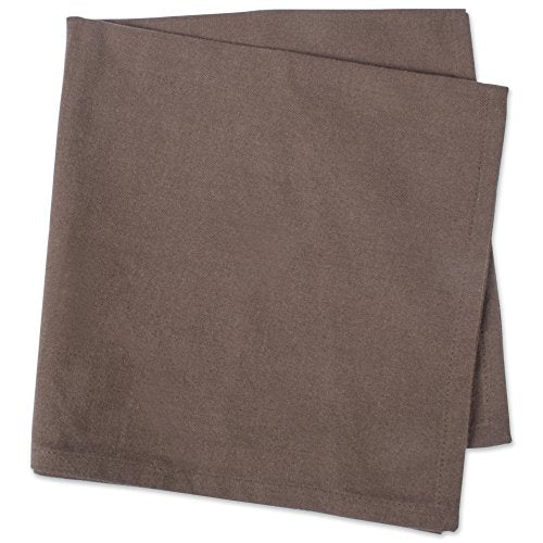 "DII 100% Cotton Cloth Napkins, Oversized 20x20"" Dinner Napkins, For Basic Everyday Use, Banquets, Weddings, Events, or Family Gatherings - Set of 6, Dark Brown"
