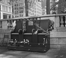 Shoeshine Stand, Urban Photography, Landscape Photograph, New York City, Wall Decor, Fine Art, Home Decor, Black & White Photo