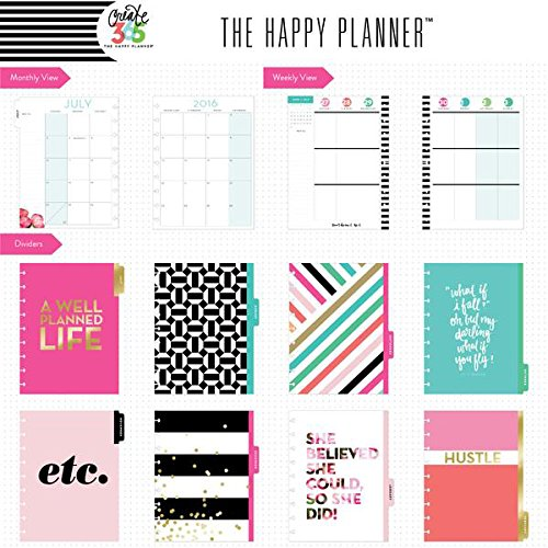 me & my BIG ideas Create 365 The Happy Planner, Peony Florals, Jul 2016 - Dec 2017