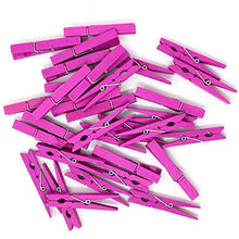 Just Artifacts 2.75-inch Craft Wood Clothespins/Peg Pins (100pc, Magenta)