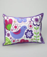 Bacati - Botanical Sanctuary Purple Multicolor Decorative Pillow