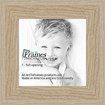 "Art To Frames 5x5 Inch Brown Picture Frame, This 1.25"" Custom Poster Frame Is Natural Oak   Barnwood S"
