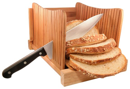 Db Tech Bamboo Wood Compact Foldable Bread Slicer