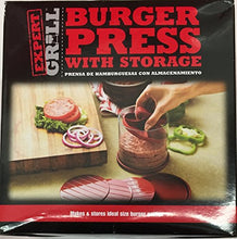 Expert Grill Hamburger Burger Press With Storage