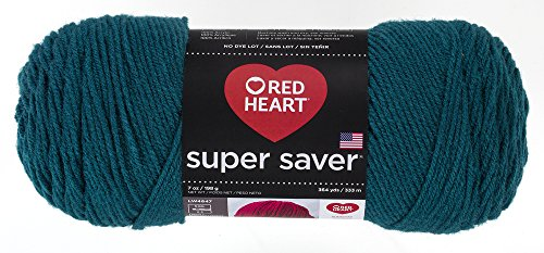 Red Heart Super Saver Yarn, Real Teal