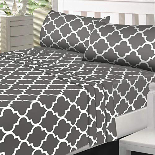 Utopia Bedding Printed Bed Sheet Set   1 Fitted Sheet, 1 Flat Sheet And 1 Pillowcase   Soft Brushed