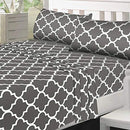 Image of Utopia Bedding Printed Bed Sheet Set   1 Fitted Sheet, 1 Flat Sheet And 1 Pillowcase   Soft Brushed