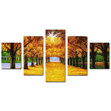 Yeyo Large Size Art Paintings Autumn Forest Landscape Stretched and Framed Canvas Artwork Paintings on Wall Art Ready to Hang for Living Room Bedroom Home Decorations