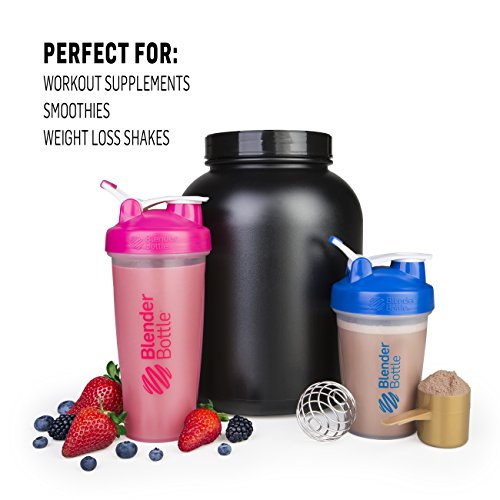 BlenderBottle Classic Loop Top Shaker Bottle, 28-Ounce, Pink/Pink