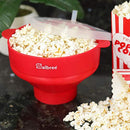 Image of Original Salbree Microwave Popcorn Popper, Silicone Popcorn Maker, Collapsible Bowl BPA Free - 18 Colors Available (Red)