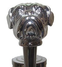 Chrome Bulldog Beer Tap Handle Sports Bar Kegerator Resin Zombie Breweriana Mac