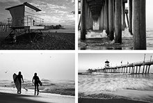 B&W Huntington Beach Photo Print Set, Black and White Images at the Pier, California Photography Wall Art, Coastal Seascape Home Decor, 8x10 to 24x36